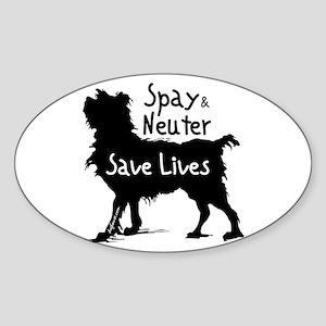 Save Lives Spay & Neuter (Dog) Oval Sticker