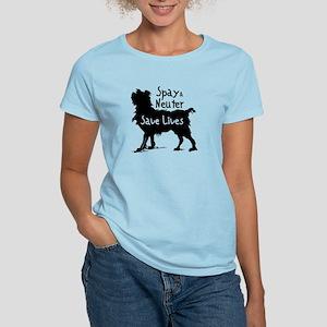 Save Lives Spay & Neuter (Dog) Women's Light T-Shi