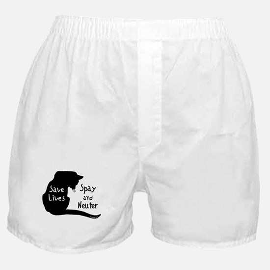 Save Lives (Cat) Spay & Neute Boxer Shorts