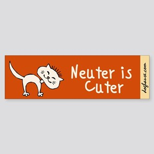 Neuter Is Cuter Sticker (Bumper)