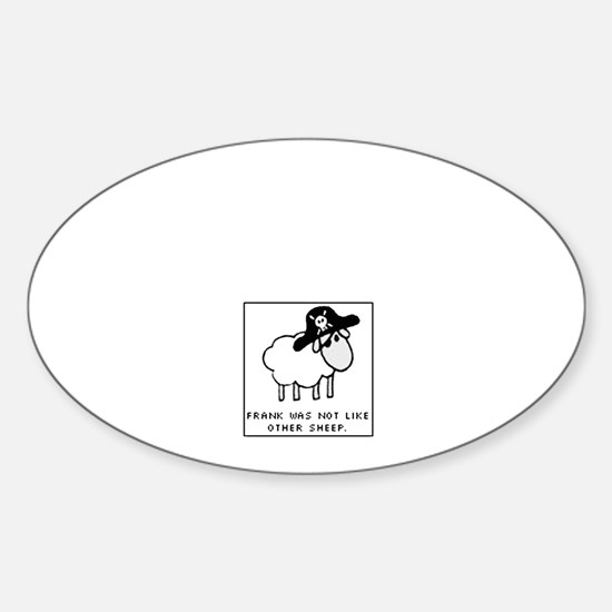 FrankTheSheep Oval Decal