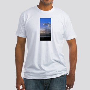 sky sea photo Fitted T-Shirt