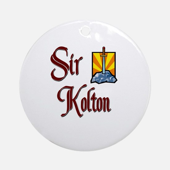 Sir Kolton Ornament (Round)