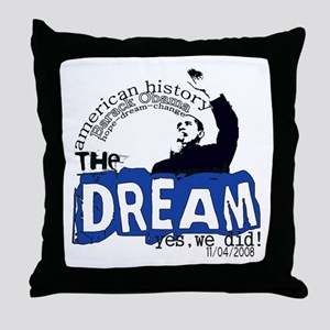 American History Throw Pillow
