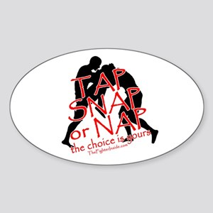 Tap Snap or Nap Oval Sticker