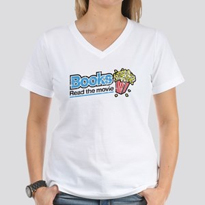 """Books: Read the Movie"" Women's V-Neck T"