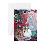 Rabbit and Christmas Tree Holiday Cards (20)