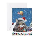 Maine Coon Cat Christmas Greeting Cards (Pk of 20)