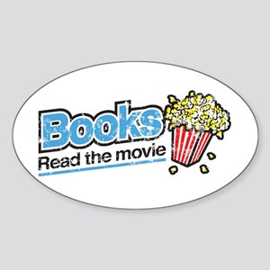 """Books: Read the Movie"" Oval Sticker"