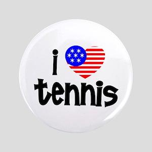 "I Love Tennis 3.5"" Button"