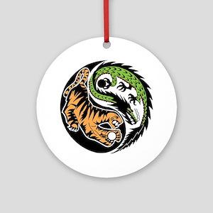 Dragon Tiger Ornament (Round)