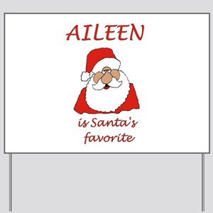 Aileen Christmas Yard Sign