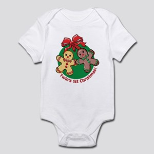 TWIN'S 1ST CHRISTMAS! Infant Bodysuit