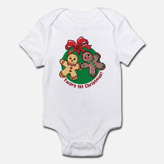 TWIN'S 1ST CHRISTMAS! Infant Bodysuit