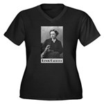 Lewis Carroll Women's Plus Size V-Neck Dark T-Shir