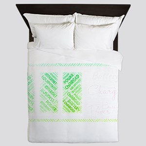 battery power charged charging Queen Duvet
