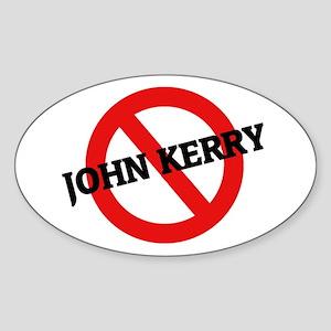 Anti John Kerry Oval Sticker
