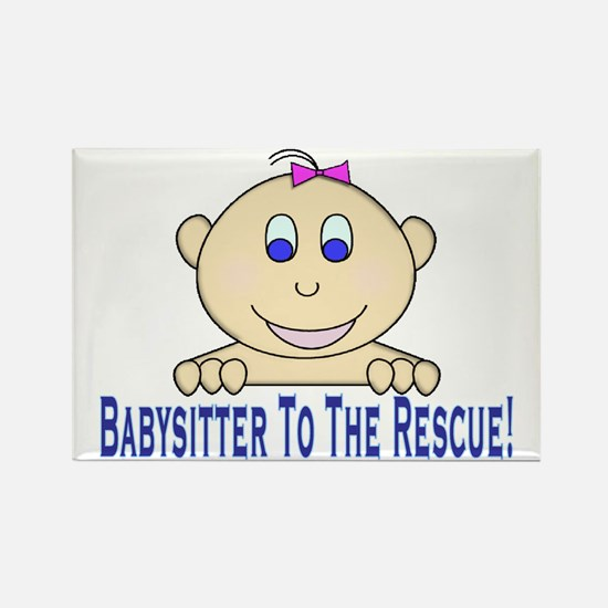 Babysitter To The Rescue Rectangle Magnet