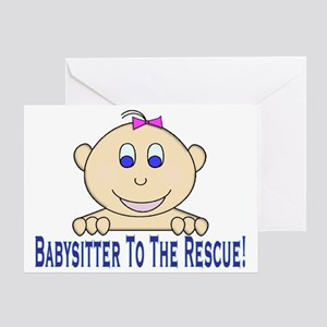 Babysitter To The Rescue Greeting Card