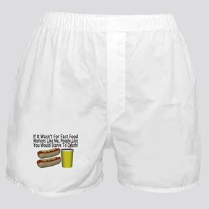 Fast Food Worker Boxer Shorts