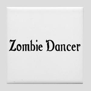 Zombie Dancer Tile Coaster