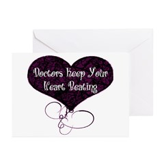Doctors Keep Your Heart Greeting Cards (Pk of 20)