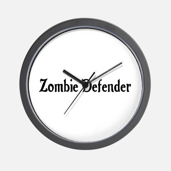 Zombie Defender Wall Clock