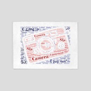 camera slr photography 5'x7'Area Rug