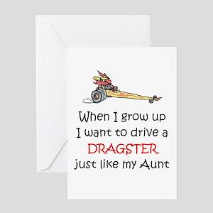 WIGU Dragster Aunt Greeting Card
