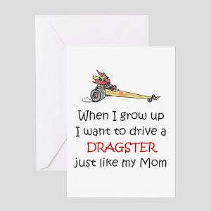 WIGU Dragster Mom Greeting Card
