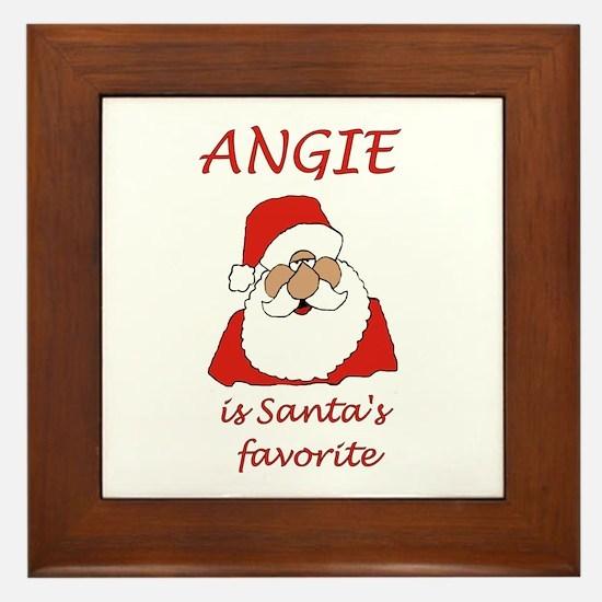 Angie Christmas Framed Tile