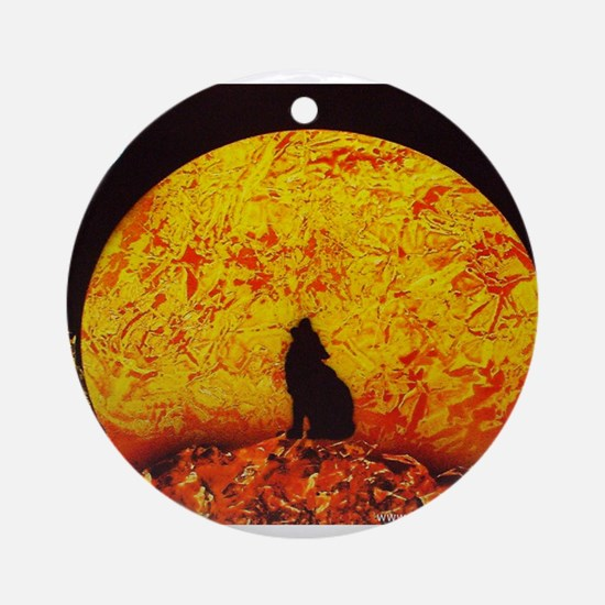 Coyote Sunset Ornament (Round)