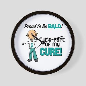 Bald 1 Teal (SFT) Wall Clock