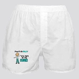 Bald 1 Teal (SFT) Boxer Shorts