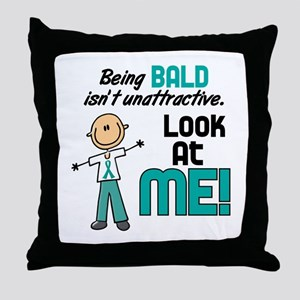 Bald 2 Teal (SFT) Throw Pillow