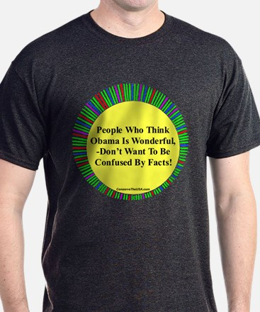 """""""Confused By Facts"""" T-Shirt"""