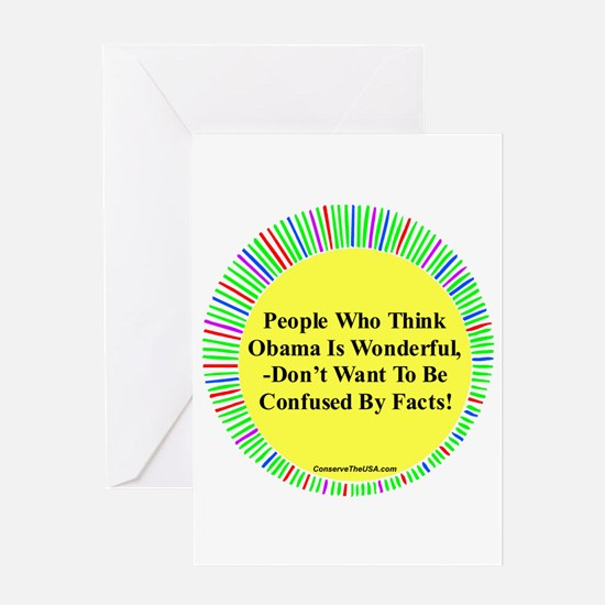 """""""Confused By Facts"""" Greeting Card"""