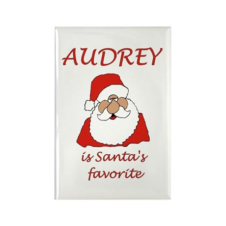 Audrey Christmas Rectangle Magnet (100 pack)