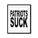 Patriots Suck Framed Panel Print