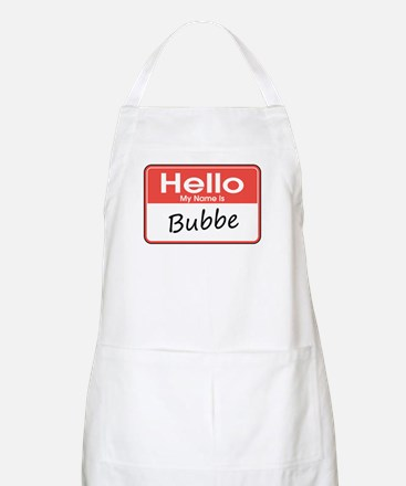 Hello, My name is Bubbe BBQ Apron