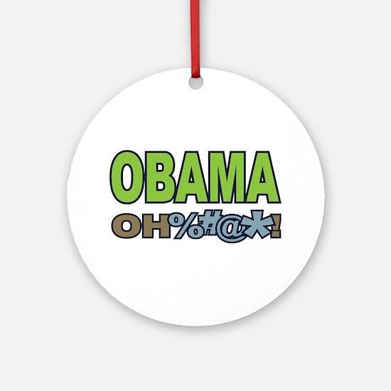 Obama Oh Crap! Ornament (Round)