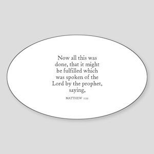 MATTHEW 1:22 Oval Sticker
