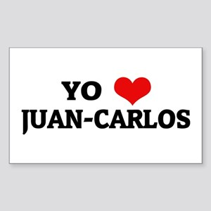 Amo (i love) Juan-Carlos Rectangle Sticker