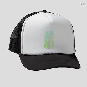 power electricity wind Kids Trucker hat