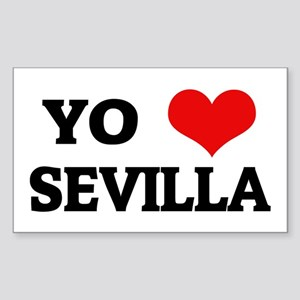 Amo (i love) Sevilla Rectangle Sticker