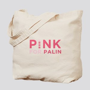 Pink for Palin Tote Bag