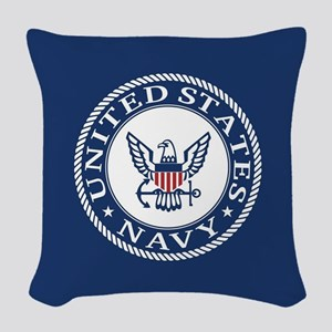 United States Navy Woven Throw Pillow