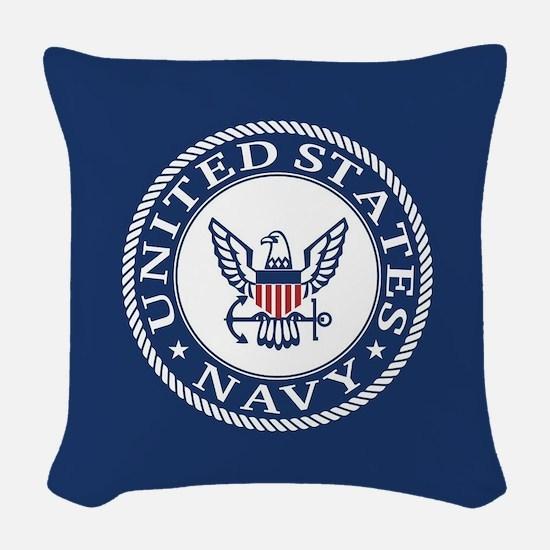 United States Navy Woven Throw Pillow