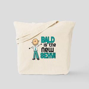 Bald 6 Teal (SFT) Tote Bag