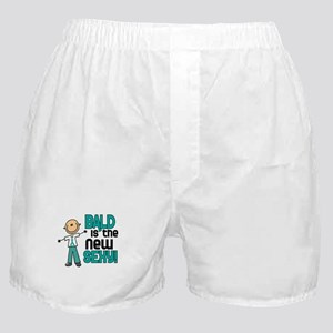Bald 6 Teal (SFT) Boxer Shorts